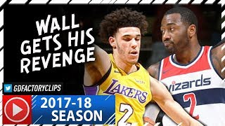 John Wall vs Lonzo Ball SICK PG Duel Highlights (2017.11.09) Wizards vs Lakers - Wall DESTROYS Ball!