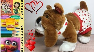 Cool Valentines cards with surprises. Bulldog sings for Valentines Day. by Granny B.