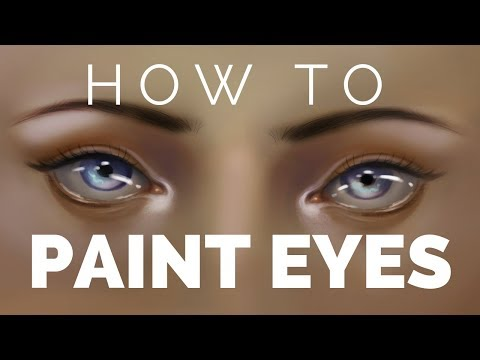 Semi-Realistic Eye Drawing Tutorial | How To Paint Digital Eyes [CC]