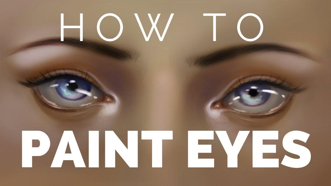 Semi Realistic Eye Drawing Tutorial How To Paint Digital Eyes Cc