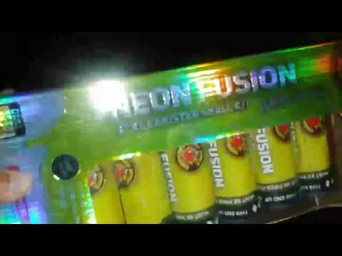 """5""""neon fusion vs 1.4g 5""""gold&silver tail canister shells red apple fireworks"""