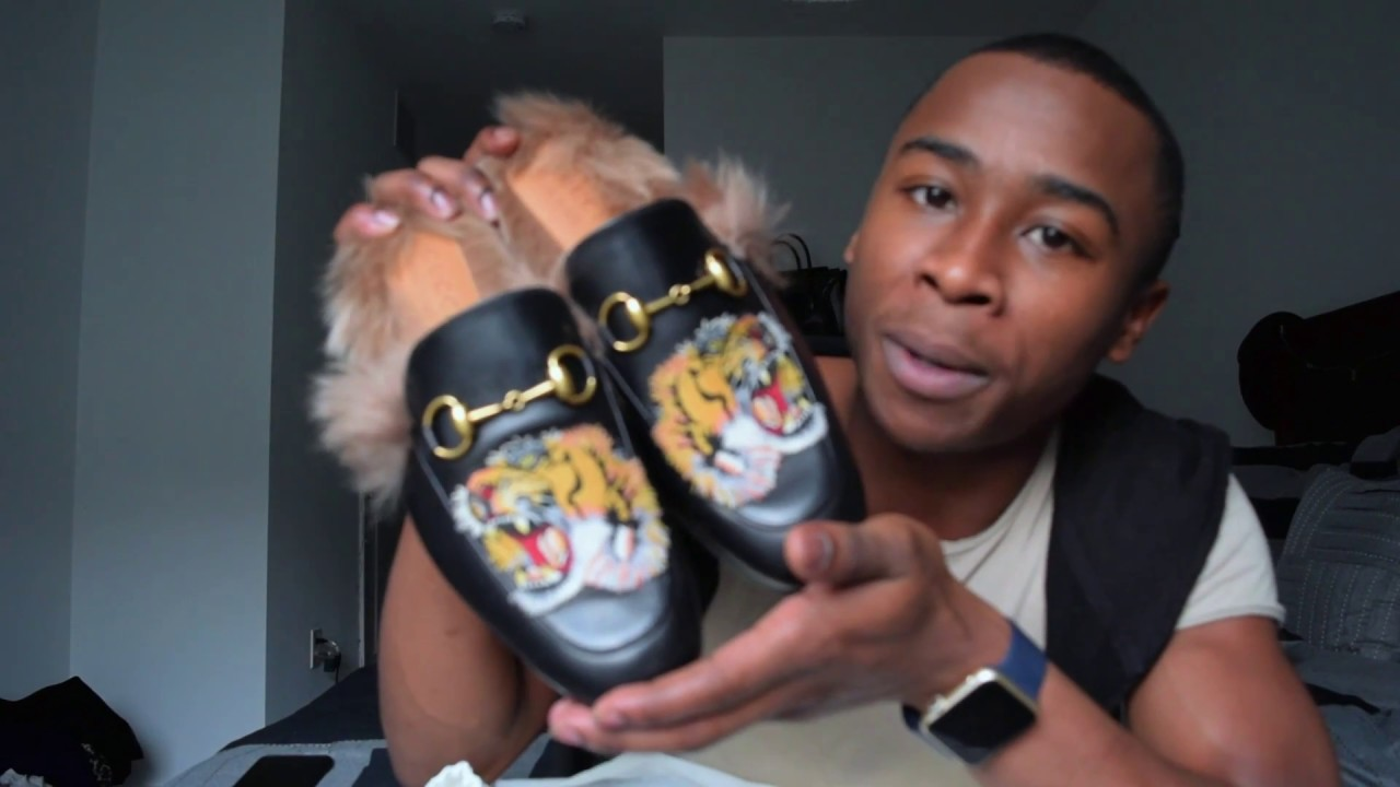 08337f4c1f3 Gucci Shoe Haul (Princetown Fur Slippers and Caleido Slides) - YouTube