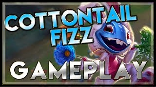 Cottontail Fizz Skin Gameplay Mid - League of Legends