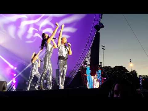Stockholm Pride 2015 Alcazar on stage