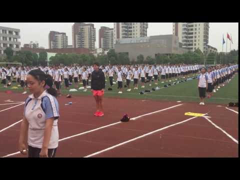Wuhan Open - Callisthenics with Carla Suarez Navarro