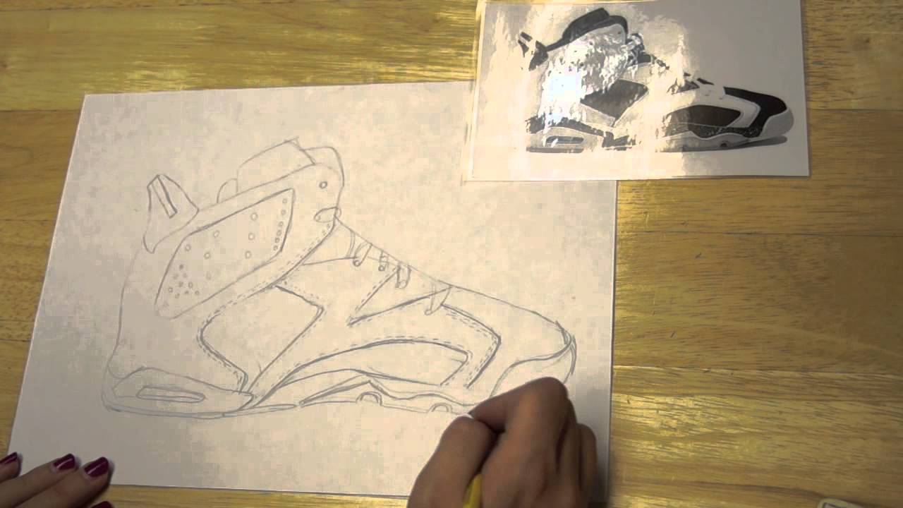 Line Art Shoes : Contour line drawing of a shoe youtube