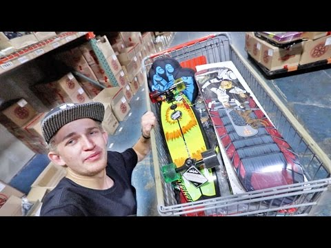 I STOLE ALL OF THIS... (Raiding a skateboard warehouse)