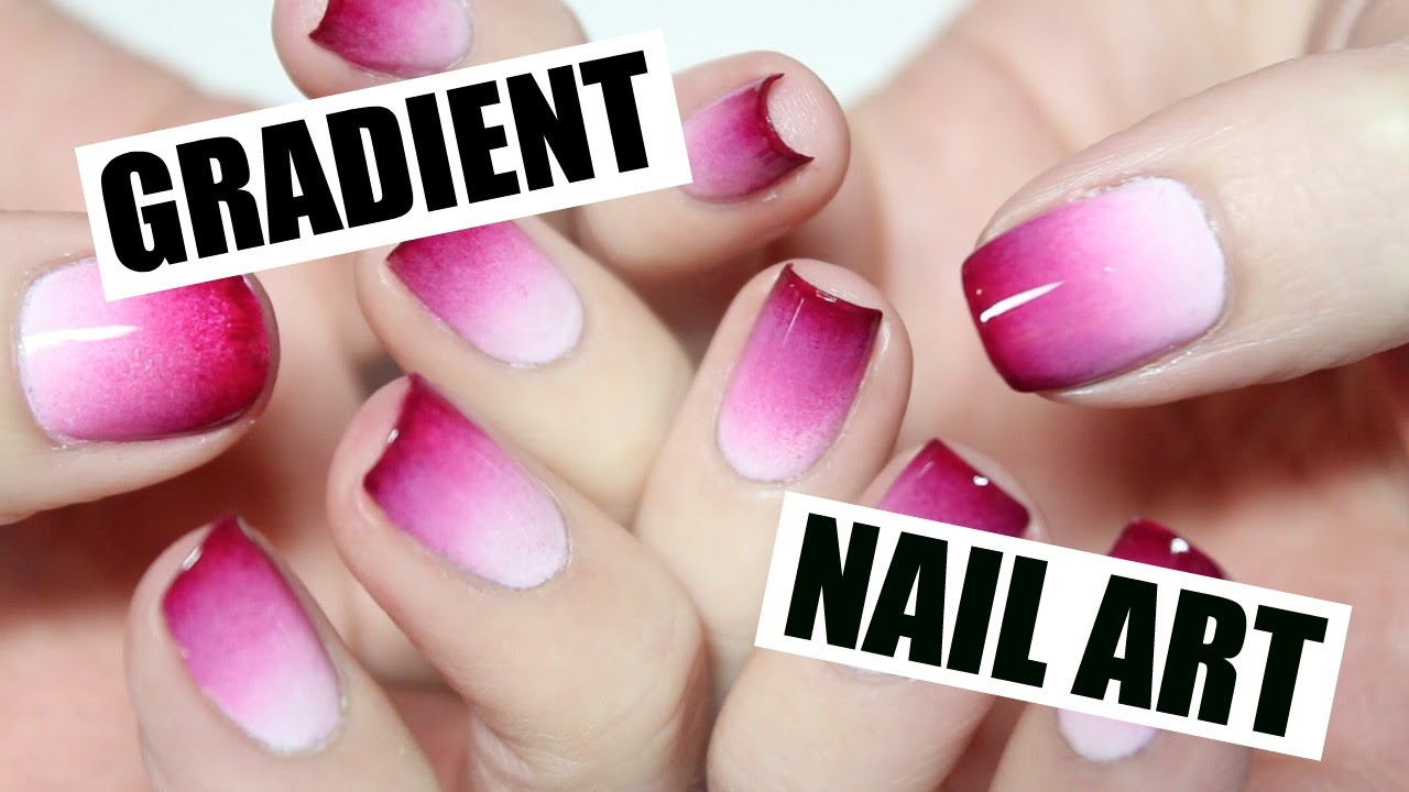 HOW TO: Gradient Nail Art | THE NAIL TRAIL - YouTube