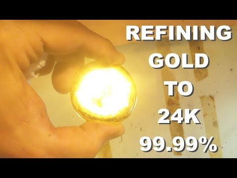 24K pure GOLD: the refining process PART 1