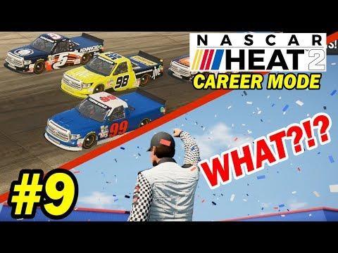 STRANGEST FINISH EVER! [NASCAR Heat 2 Career Mode -- Trucks 6/23]