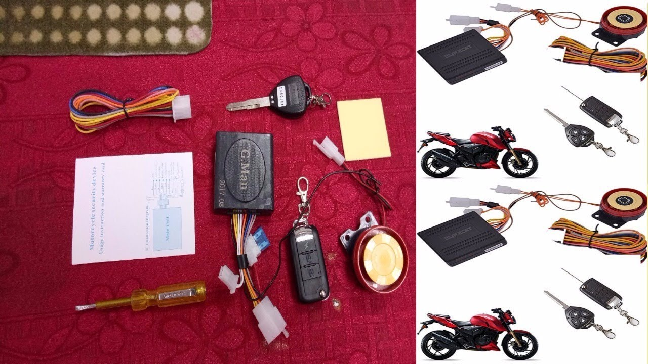 Autostark Blackcat Motorcycle Bike Alarm Security System