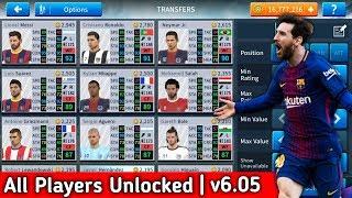 Dream League Soccer 2019 Mega MOD Apk v6.05 (All Players Unlocked + Unlimited Players Development)