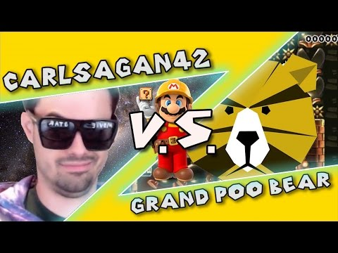 Mario Maker - Grand Theft Clowncar (Super Intense Levels!) Kaizo Race w/ Poo #3