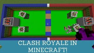 come giocare a clash royale in minecraft!