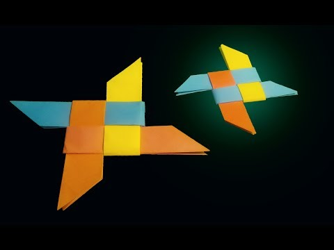 How To Make a Origami Ninja Star (Shuriken) - Origami