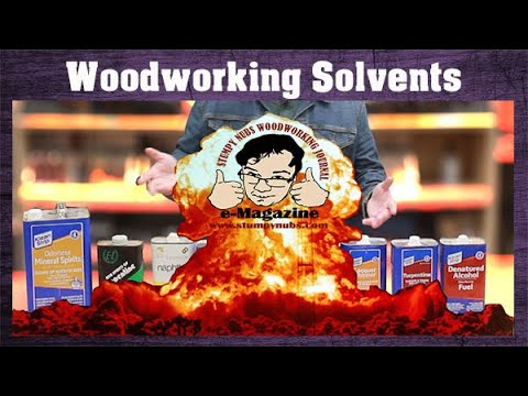 What happens if you choose the wrong woodworking solvent? (A tutorial)