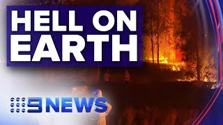 Two lives lost and several people unaccounted for as fires burn | Nine News Australia