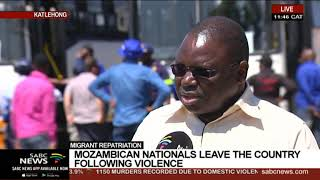 Mozambican nationals leave South Africa following violence