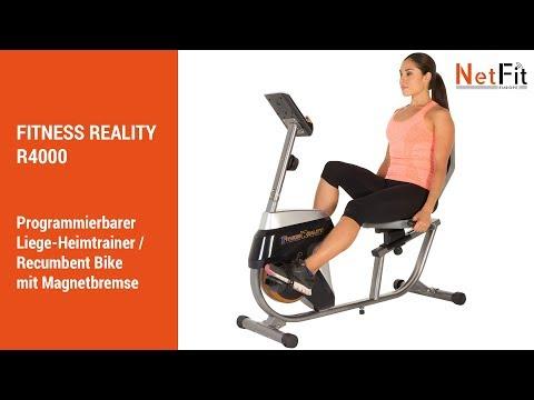 FITNESS REALITY R4000 Recumbent Bike / Liege-Heimtrainer - NetFit Europe