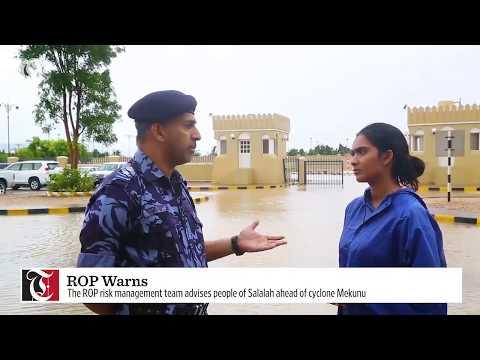 Cyclone Mekunu: Royal Oman Police update and warning
