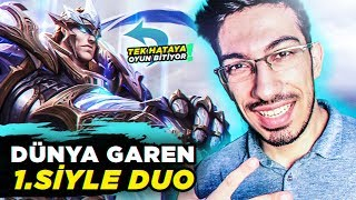DÜNYA GAREN 1. SİYLE DUO / CHALLENGER ELO DERECELİ GAMEPLAY !! ( Lol Türkçe ) Video