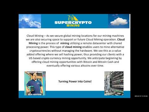 DPW Holdings Investor Webcast 01/31/2018 featuring Super Crypto