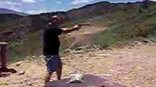 My Pal John shooting his .44 Magnum.