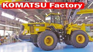 KOMATSU Factory Tour  Heavy Machinery Production