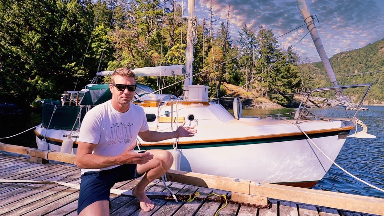 TINY $4,000 Live Aboard Sailboat TOUR