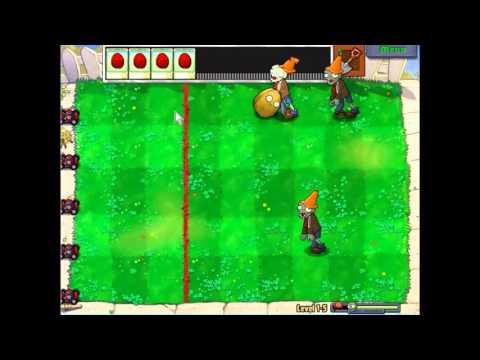 Gameplay-Plants Vs Zombies Level 1-5