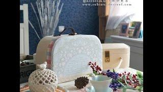 Красивый чемоданчик из картона. Beautiful cardboard suitcase.