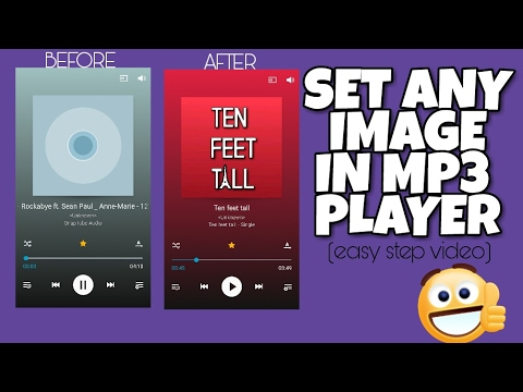 How to set custom photo in music player  Set any image in mp3 player