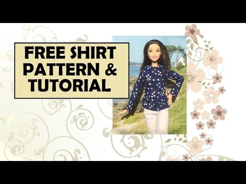 Tall Barbie Free Shirt Pattern and Tutorial - YouTube