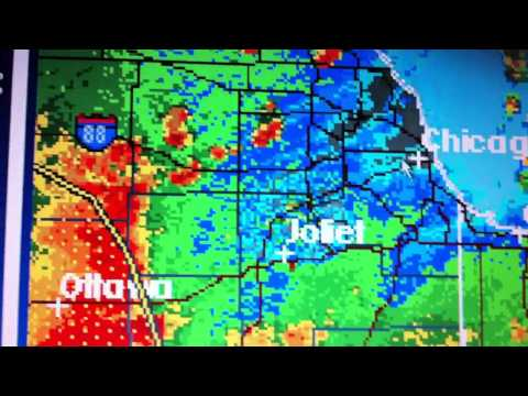 NOAA - Radar Loop 06/21/2011 ..nice Storm On Chicago West Sub