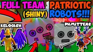 PHMittens & Kelogish LET ME USE *SHINY* PATRIOTIC ROBOTS!! (Roblox Bubble Gum Simulator)