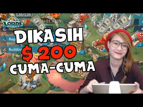 CARA DAPETIN 200 DOLLAR CUMA CUMA DARI MAIN GAME *NO CLICKBAIT* - LORDS MOBILE