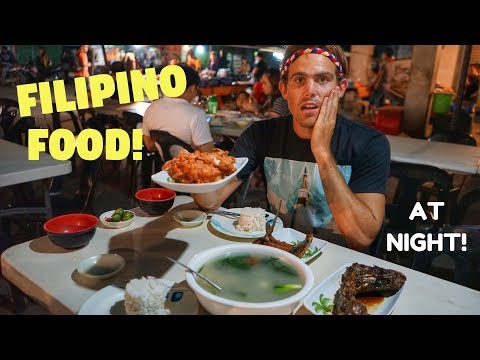 Eating FILIPINO FOOD at Famous NIGHT MARKET In Philippines (Tagum, Davao Del Norte)