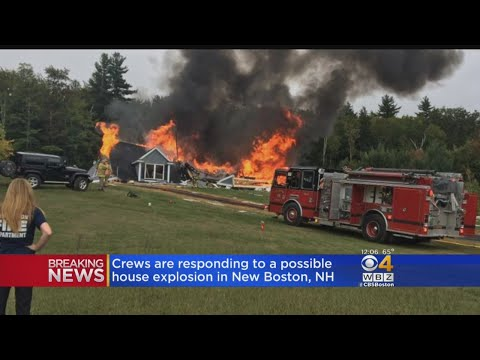 Possible Explosion Tears Through New Boston, NH Home