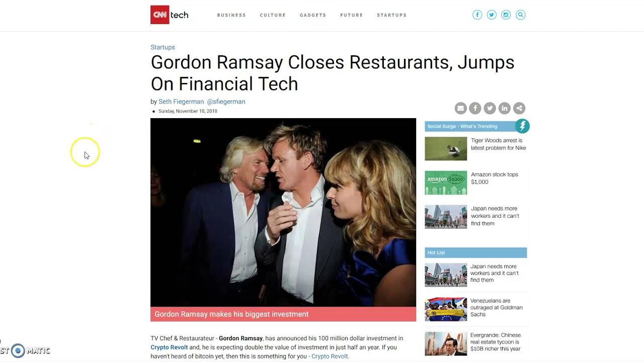 Gordon ramsay investing in bitcoins