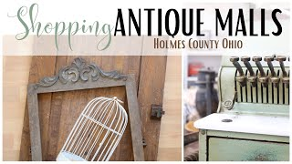 Antique Mall Shopping ~ Shop with me ~ Antique Haul ~ Holmes County Antique Malls