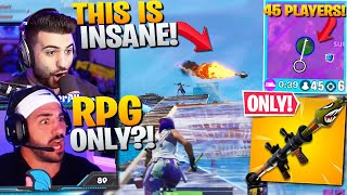 I Joined a *RPG ONLY* PRO SCRIM and THIS Happened...  (Fortnite Battle Royale)