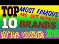 top 10 best and most Famous Cosmetic Brands in The World 2018