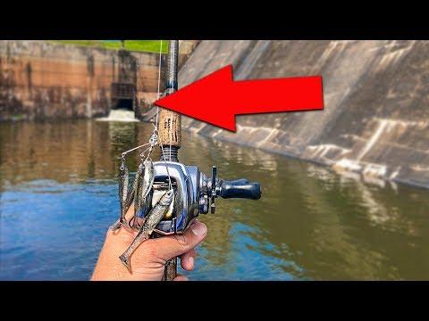 Fishing Below A Lake