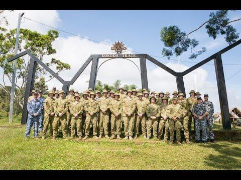 HMAS Adelaide Embarked Personnel visit Kokoda Trail