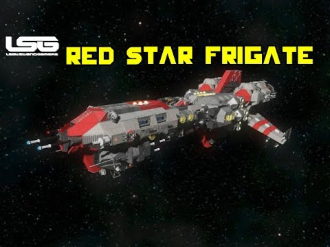 space engineers red star frigate youtube