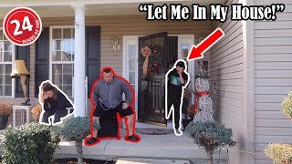 LOCKING MY PARENTS OUTSIDE THE HOUSE FOR 24 HOURS...(BAD IDEA)