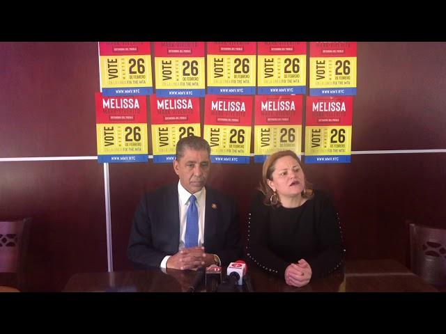 Congresista Espaillat y Melissa Mark Viverito en un recorrido en Washigton Heights