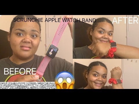 SCRUNCHIE APPLEWATCH BAND | HOW TO MAKE ONE