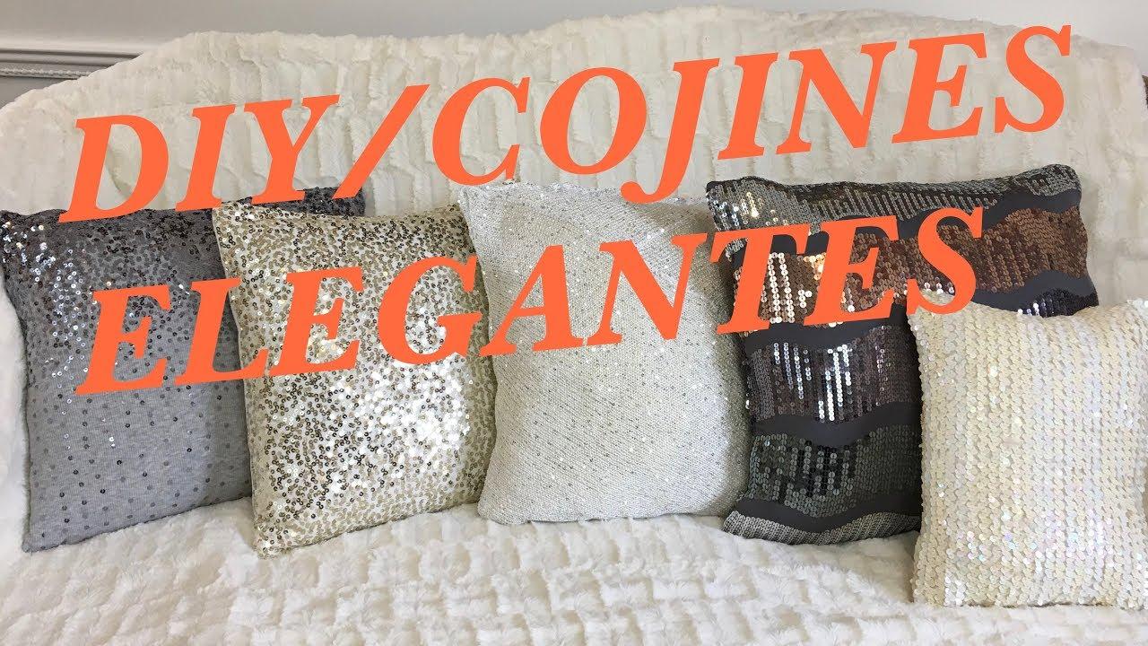 Diy Cojines Elegantes Reciclados Facil Y Economico