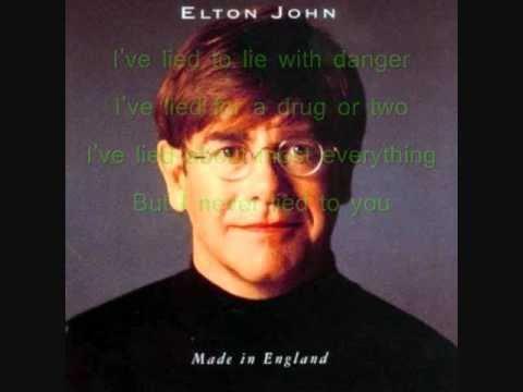Elton John - Lies (WITH LYRICS!)